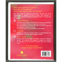 Face arrière livre CD apprentissage d'occasion Initiation Japonais