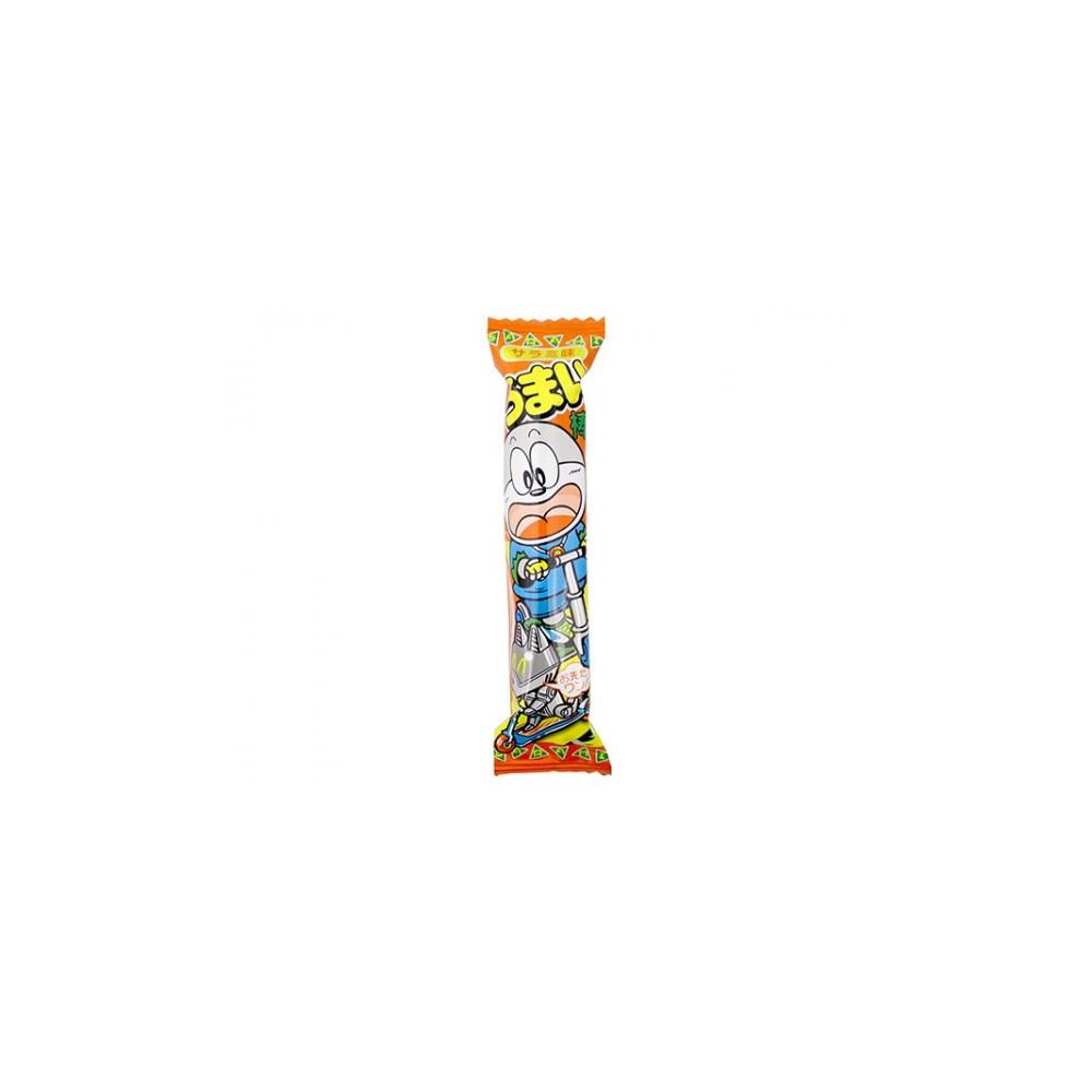 Snack Japonais à base de maïs avec ici une saveur de Salami